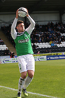 Matthew Doherty in the St Mirren v Hibernian Clydesdale Bank Scottish Premier League match played at St Mirren Park, Paisley on 29.4.12.