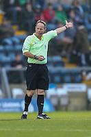 Referee Rob Lewis who was replaced at half time during the Sky Bet League 2 match between Wycombe Wanderers and Leyton Orient at Adams Park, High Wycombe, England on 17 December 2016. Photo by David Horn / PRiME Media Images.