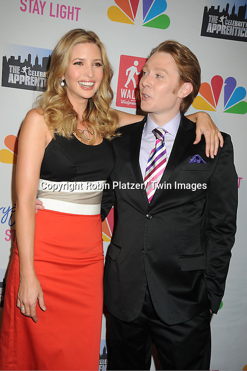 Ivanka Trump in Carolina Herrera dress and Clay Aiken attend The Celebrity Apprentice Live Finale at The Museum of Natural History in New York City on May 20, 2012.