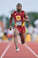 Beejay Lee of USC competes in 100 meter prelims during West Preliminary Track and Field Championships, Friday, May 29, 2015 in Austin, Tex. (Mo Khursheed/TFV Media via AP Images)