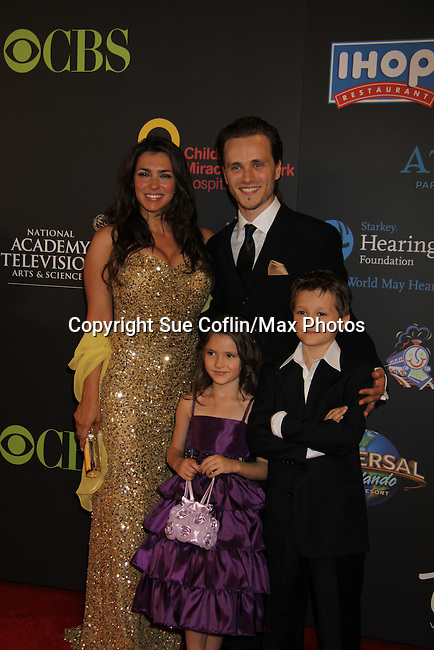 Jonathan Jackson & Lisa Vultaggio & children at the 38th Annual Daytime Entertainment Emmy Awards 2011 held on June 19, 2011 at the Las Vegas Hilton, Las Vegas, Nevada. (Photo by Sue Coflin/Max Photos)