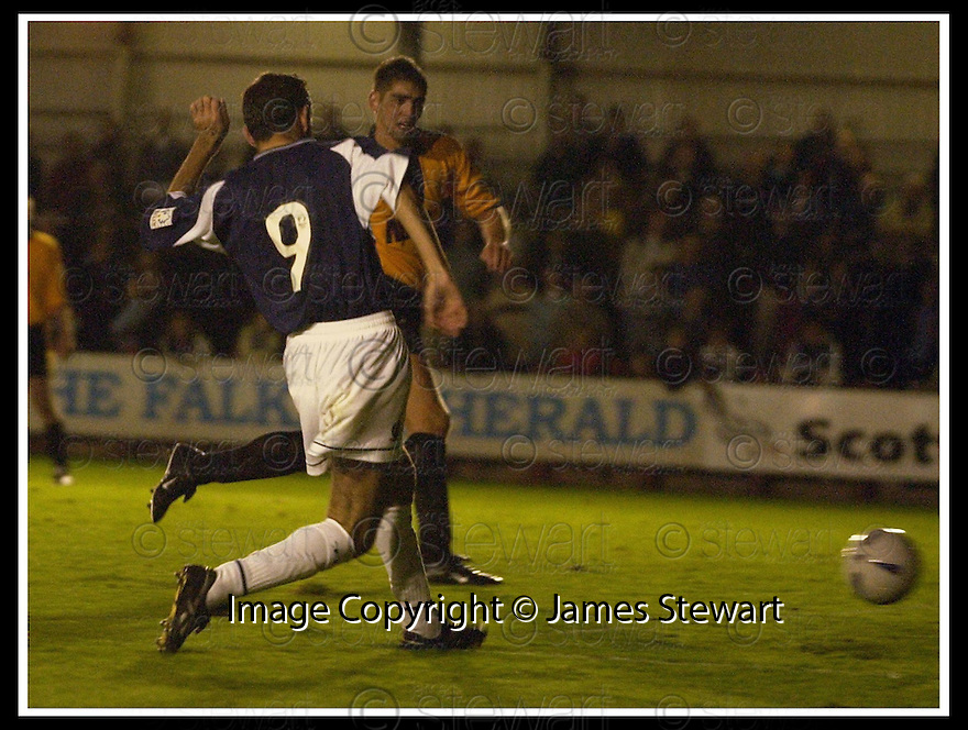 10/09/2002                   Copyright Pic : James Stewart.File Name : stewart-falkirk v peterhead 07.OWEN COYLE SCORES THE SECOND GOAL........Payments to :-.James Stewart Photo Agency, 19 Carronlea Drive, Falkirk. FK2 8DN      Vat Reg No. 607 6932 25.Office     : +44 (0)1324 570906     .Mobile  : +44 (0)7721 416997.Fax         :  +44 (0)1324 570906.E-mail  :  jim@jspa.co.uk.If you require further information then contact Jim Stewart on any of the numbers above.........