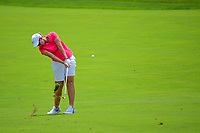 Ashleigh Buhai (ZAF) hits her approach shot on 1 during Saturday's third round of the 72nd U.S. Women's Open Championship, at Trump National Golf Club, Bedminster, New Jersey. 7/15/2017.<br /> Picture: Golffile | Ken Murray<br /> <br /> <br /> All photo usage must carry mandatory copyright credit (&copy; Golffile | Ken Murray)