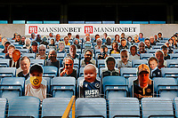 14th July 2020; The Den, Bermondsey, London, England; English Championship Football, Millwall Football Club versus Blackburn Rovers; Cardboard cutout of Millwall fans inside in the lower tier stands of The Dockers Stand