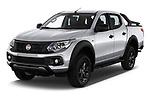 2018 Fiat Fullback Cross Techno 4 Door Pick Up angular front stock photos of front three quarter view