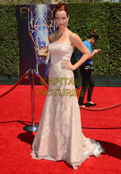 16 August 2014 - Los Angeles, California - Annie Wersching. Arrivals for the 2014 Creative Arts Emmy Awards held at Nokia Theater L.A. LIVE in Los Angeles, Ca.  <br /> CAP/ADM/BT<br /> &copy;Birdie Thompson/AdMedia/Capital Pictures