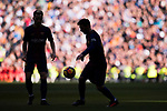 Lionel Andres Messi (R) of FC Barcelona in action during the La Liga 2017-18 match between Real Madrid and FC Barcelona at Santiago Bernabeu Stadium on December 23 2017 in Madrid, Spain. Photo by Diego Gonzalez / Power Sport Images