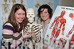 TOP TEAM: Physiotherapists Kathleen Lyons (Duagh) and Helen O'Leary (Currow) explaining bone structure at the official opening of  the new Physiotherapy Unit at Castleisland Day Care Centre on Friday last..   Copyright Kerry's Eye 2008