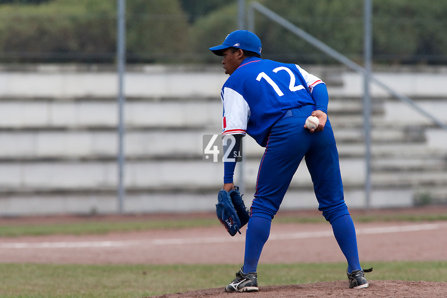 Baseball - 2009 European Championship Juniors (under 18 years old) - Bonn (Germany) - 09/08/2009 - Day 7 - Edison Garcia (France)