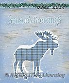 GIORDANO, CHRISTMAS SYMBOLS, WEIHNACHTEN SYMBOLE, NAVIDAD SÍMBOLOS,moose, paintings+++++,USGI2914,#xx#