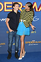 "Tom Holland and Zendaya<br /> at the ""Spider-Man:Homecoming"" photocall at the Ham Yard Hotel, London. <br /> <br /> <br /> ©Ash Knotek  D3281  15/06/2017"