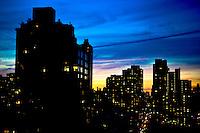 Upper East Side sunset. Manhattan, New York.