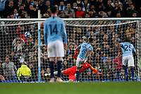 Gabriel Jesus of Manchester City scores his side's fourth goal to make the score 4-0 from the penalty spot during the UEFA Champions League Group F match between Manchester City and Shakhtar Donetsk at the Etihad Stadium on November 7th 2018 in Manchester, England. (Photo by Daniel Chesterton/phcimages.com)<br /> Foto PHC/Insidefoto <br /> ITALY ONLY