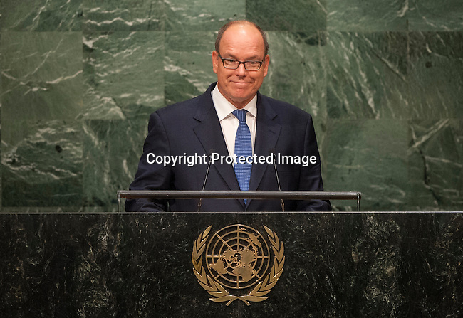 His Serene Highness Prince Albert II of the Principality of Monaco<br /> 6th plenary meeting High-level plenary meeting of the General Assembly (3rd meeting)