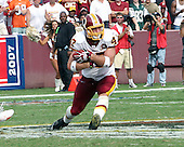 Landover, MD - September 9, 2007 -- Washington Redskins tight end Chris Cooley (47) runs with the ball after making a key catch in overtime against the Miami Dolphins at FedEx Field in Landover, Maryland on Sunday, September 9, 2007.  The Redskins won the game in overtime 16 - 13..Credit: Dexter Powell / CNP