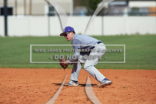 Chris Ayres (7) of Collegeville, Pennsylvania during the Baseball Factory All-America Pre-Season Rookie Tournament, powered by Under Armour, on January 14, 2018 at Lake Myrtle Sports Complex in Auburndale, Florida.  (Michael Johnson/Four Seam Images)