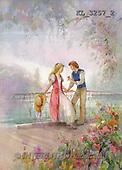 Interlitho, Sue Allison, TEENAGERS, paintings, couple, bridge(KL3257/2,#J#) Jugendliche, jóvenes, illustrations, pinturas ,everyday