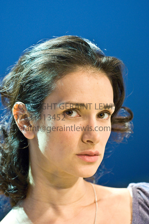 The Verical Hour by David Hare,directed by Jeremy Herrin. With Indira Varma as Nadia. Opens at The Jerwood Theatre Upstairs at The Royal Court Theatre on 22/1/08. CREDIT Geraint Lewis