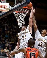 Robert Thurman of California prepares to dunk the ball during the game against Oregon State Beavers at Haas Pavilion in Berkeley, California on January 31st, 2013.  California defeated Oregon State, 71-68.