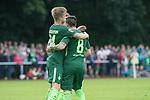 28.07.2017, Sportplatz, Schneverdingen, GER, FSP SV Werder Bremen (GER) vs WestHam United (ENG), <br /> <br /> im Bild<br /> Johannes Eggestein (Werder Bremen #24) zum 1 zu 0 gegen James Collins (WestHam)<br /> jubel<br /> Foto &copy; nordphoto / Kokenge