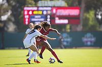 STANFORD, CA - October 21, 2018: Catarina Macario at Laird Q. Cagan Stadium. No. 1 Stanford Cardinal defeated No. 15 Colorado Buffaloes 7-0 on Senior Day.