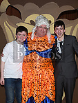 David O'Neill, Brendan McGrath and Oisin Madden who took part in the Togher Theatre Group's Panto Aladdin in St Mary's Hall Drumcar. Photo:Colin Bell/pressphotos.ie