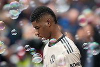 Marcus Rashford of Man Utd during the Premier League match between West Ham United and Manchester United at the Olympic Park, London, England on 22 September 2019. Photo by Andy Rowland / PRiME Media Images.