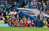 Pictured: Swansea manager Brendan Rodgers (R). Saturday 17 September 2011<br />