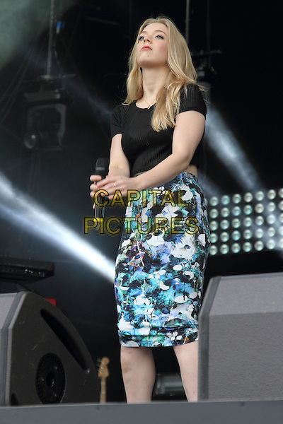 BIRMINGHAM, UNITED KINGDOM - AUGUST 30: Becky Hill performs onstage during day 1 of Fusion Festival 2014 on August 30, 2014 in Birmingham, England.<br /> CAP/ROS<br /> &copy;Steve Ross/Capital Pictures