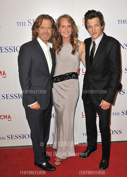"William H. Macy (left), Helen Hunt & John Hawkes at the premiere of their movie ""The Sessions"" at the LA County Museum of Art..October 10, 2012  Los Angeles, CA.Picture: Paul Smith / Featureflash"