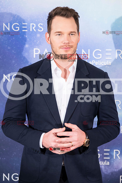 "American actor Chris Pratt attends to the presentation of the american film ""Passengers"" at Hotel Villa Magna in Madrid, Spain. November 30, 2016. (ALTERPHOTOS/BorjaB.Hojas) /NORTEPHOTO.COM"
