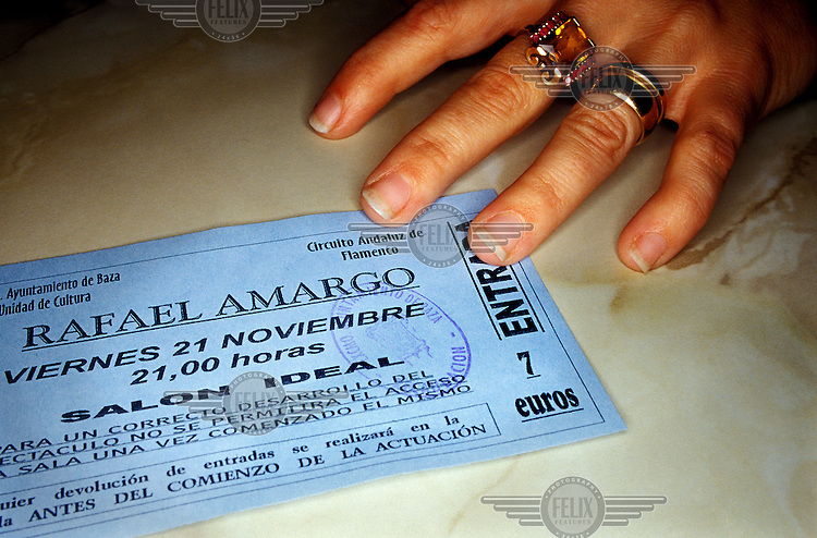 A ticket for a flamenco performance given by renowned bailaor and choreographer Rafael Amargo and bailaora Carmen la Talegona.