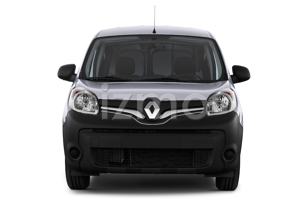 Straight front view of a 2013 - 2014 Renault Kangoo Express Maxi 5 Door Mini Mpv.