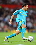 Xavi of Barcelona during the Champions League semi-final 2nd leg match at Old Trafford, Manchester. Picture date 29th April 2008. Picture credit should read: Simon Bellis/Sportimage