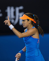 ANA IVANOVIC (SRB)<br /> Tennis - Australian Open - Grand Slam -  Melbourne Park -  2014 -  Melbourne - Australia  - 17th January 2014. <br /> <br /> &copy; AMN IMAGES, 1A.12B Victoria Road, Bellevue Hill, NSW 2023, Australia<br /> Tel - +61 433 754 488<br /> <br /> mike@tennisphotonet.com<br /> www.amnimages.com<br /> <br /> International Tennis Photo Agency - AMN Images