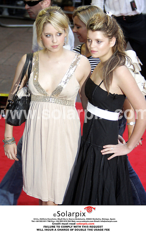 ALL ROUND PICTURES FROM SOLARPIX.COM. .**NO PUBLICATION IN FRANCE, SCANDANAVIA, AUSTRALIA AND GERMANY** NO UK NEWSPAPER PUBLICATION - UK MAGAZINES ONLY**.Peaches and Pixie Geldof arrives for the Pirates Of The Caribbean 2: Dead Man's Chest UK film premiere at the Odeon Leicester Square, London on 03.07.06. Job Ref: 2541/SFE..MUST CREDIT SOLARPIX.COM OR DOUBLE FEE WILL BE CHARGED..