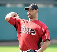 15 March 2009: RHP Jose Capellan of the Houston Astros before a game between the Atlanta Braves and Houston Astros at the Braves' Spring Training camp at Disney's Wide World of Sports in Lake Buena Vista, Fla. Photo by:  Tom Priddy/Four Seam Images