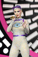 Katy Perry performing at Glastonbury Festival