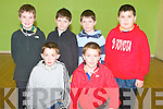 TOURNAMENT: Competing in the Kerry Schools Handball tournament at the Tralee Sports and Leisure Centre on Friday front l-r: Kevin O'Connor and Keelan Brosnan Clogher NS. Back l-r: Eogan O'Donnell, Listellick NS, David and Ciaran Nolan, Gortalea NS and Miche?al Griffin, Glenbeigh NS.