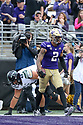 SEATTLE, WA - SEPTEMBER 14: Washington's Aaron Fuller during the college football game between the Washington Huskies and the Hawaii Rainbow Warriors on September 14, 2019 at Husky Stadium in Seattle, WA.