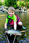 FLY FISHING, SPRING SEASON, FLY FISHING, BRIDGER GLANDA, 7 YEARS OLD