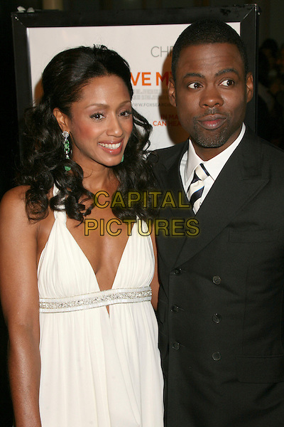 "MALAAK COMPTON-ROCK & CHRIS ROCK.""I Think I Love My Wife"" Los Angeles Premiere at ArcLight Cinemas, Hollywood, California, USA..March 7th, 2007.half length white dress black jacket compton married husband wife.CAP/ADM/BP.©Byron Purvis/AdMedia/Capital Pictures"