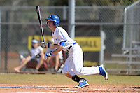 South Dakota State JackRabbits outfielder Eric Danforth (6) at bat during a game against the Georgetown Hoyas at South County Regional Park on March 9, 2014 in Port Charlotte, Florida.  Georgetown defeated South Dakota 7-4.  (Mike Janes/Four Seam Images)
