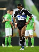 FUSSBALL   1. BUNDESLIGA   SAISON 2011/2012   27. SPIELTAG VfL Wolfsburg - Hamburger SV         23.03.2012 Dennis Aogo (Hamburger SV) ist nach dem Abpfiff enttaeuscht