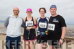 Martin O'Sullivan, Fiona McGee, Niamh Abeyta and Randall Horton at the Ballyheigue 10k run or half marathon on Saturday