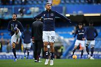 Everton's Richarlison warms up ahead of kick-off during Chelsea vs Everton, Premier League Football at Stamford Bridge on 11th November 2018