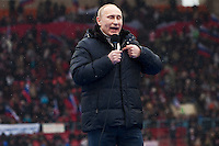 Moscow, Russia, 23/02/2012..Russian Prime Minister Vladimir Putin addressing a crowd of some 130,000 people at a presidential election campaign rally in Luzhniki sports stadium.