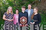 Sarah Barry, Rene Fitzgibbon, (teacher) Cian McGarry, Declan Walsh (principal) and Gerri O'Brien at the Yamaha School of Music Student of The Year 2014 at Collis Sandes House on Sunday