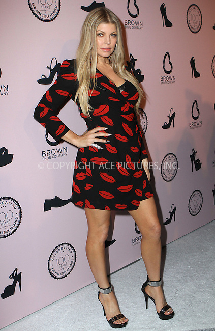 WWW.ACEPIXS.COM<br /> <br /> April 23, 2014 New York City<br /> <br />  Fergie arriving at the Brown Shoe Company celebration of 100 Years on the New York Stock Exchange at 4 World Trade Center in New York City on April 23, 2014.<br /> <br /> By Line: Nancy Rivera/ACE Pictures<br /> <br /> <br /> ACE Pictures, Inc.<br /> tel: 646 769 0430<br /> Email: info@acepixs.com<br /> www.acepixs.com