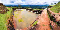 Panoramic photo of the Royal Bathing Pool at the top of Sigiriya Rock Fortress, aka Lion Rock, Sri Lanka. This is a panoramic photo of the Royal Bathing Pool at the top of Sigiriya Rock Fortress, aka Lion Rock, a UNESCO World Heritage Site in Sri Lanka. Sigiriya Rock is easily the most popular tourist attraction in Sri Lanka.